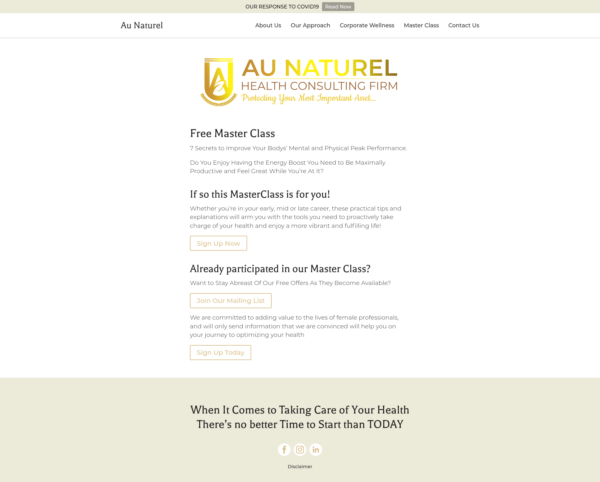 Au Naturel Consulting Firm